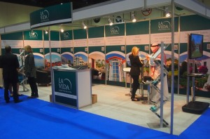 Our Golden Visa stand in Abu Dhabi